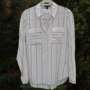 Express Semi-Sheer Pretty Striped Blouse